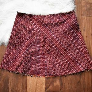Patterned Raw Hem ASOS Skirt